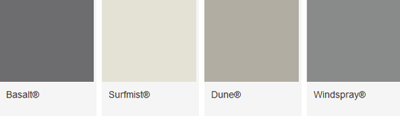 ColourBond Colours Options